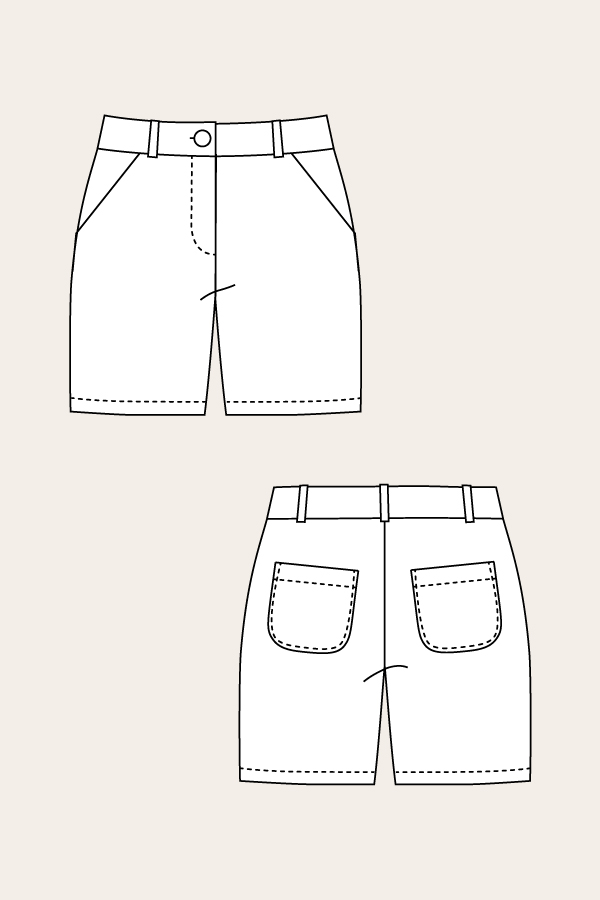 Alpi Chinos & Shorts Sewing Pattern - Named Clothing - from The Fold ...