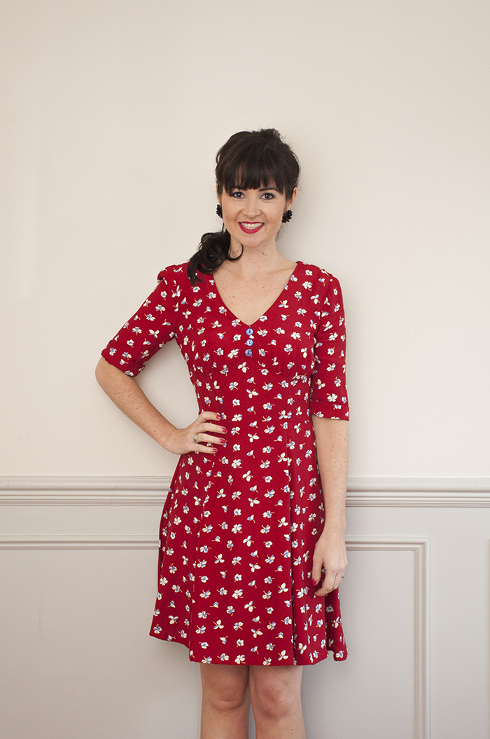 The 1940\'s Tea dress sewing pattern - Sew Over It - available on The ...