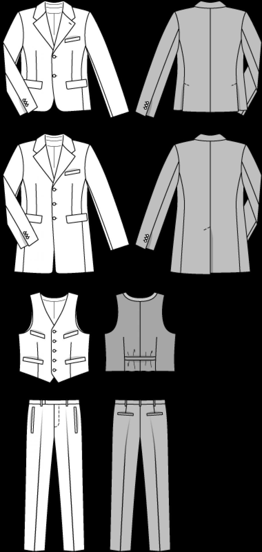 Burda Style Men\'s Suit 6871 - The Foldline