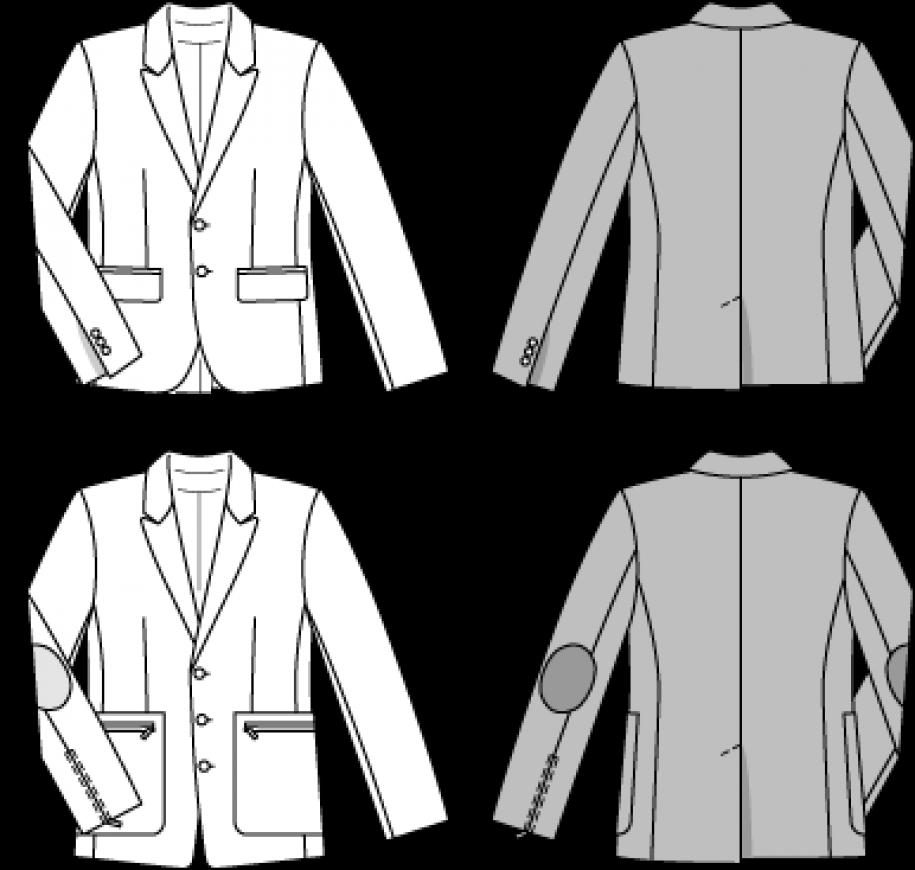 Burda Style Men\'s Jackets 6872 - The Foldline