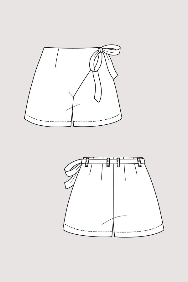 Astrid Wrap Shorts & Trousers - The Foldline