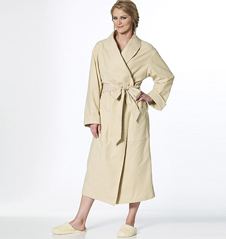 butterick his and hers night wear and robe b5537 the foldline. Black Bedroom Furniture Sets. Home Design Ideas