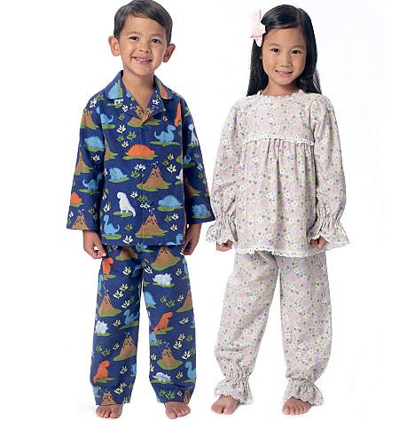 Butterick Children s Pyjamas B6268 - The Foldline 7fe0e6656