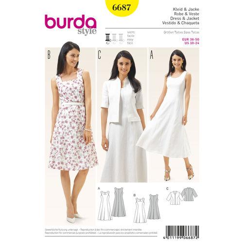 Burda Style Women's Dress and Jacket 6687