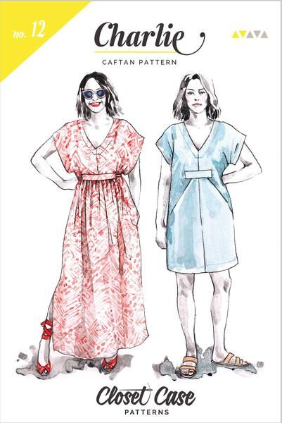 The Charlie Caftan Sewing Pattern - Closet Case Patterns - Available ...