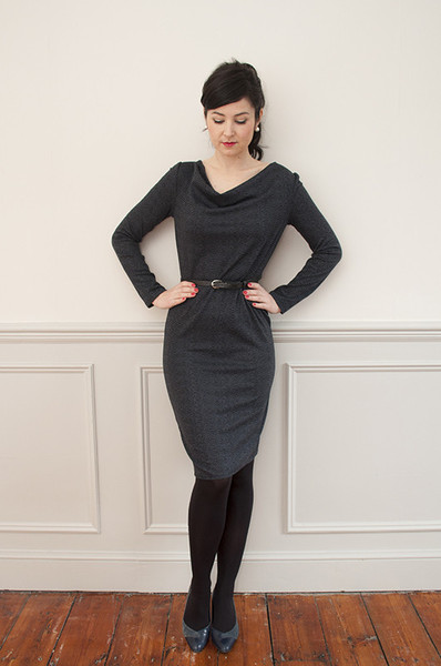 Buy the cowl neck dress sewing pattern from Sew Over It from The Fold Line