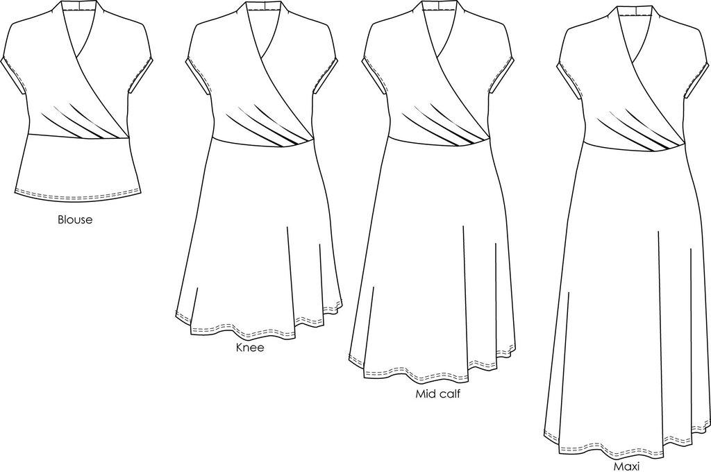 Mirri Wrap Dress The Foldline