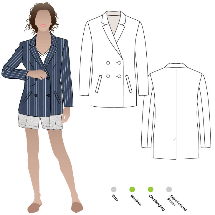 Janie Blazer The Foldline Unique Blazer Pattern