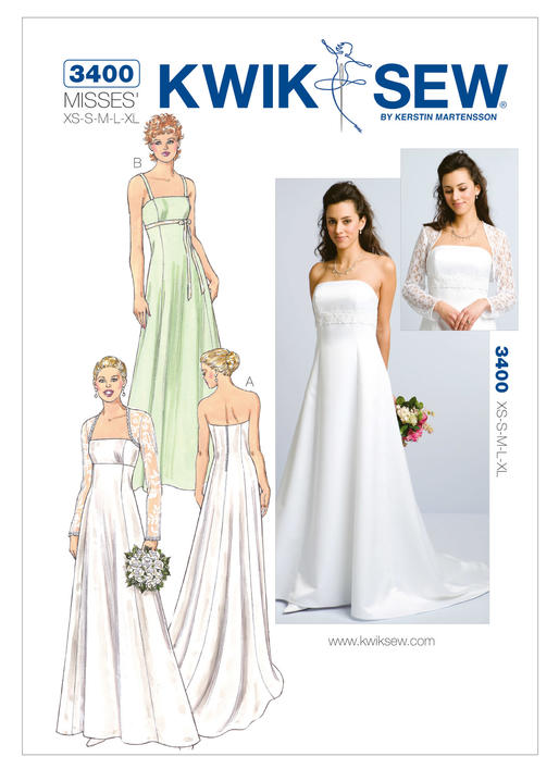 Kwik Sew Bridal Wear Gowns and Bolero 3400 - The Foldline