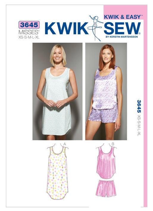 2d84de8122 Kwik Sew Sleepwear 3645 - The Foldline