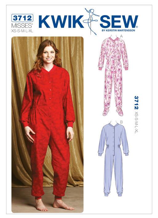 Kwik Sew Onesie Pyjamas 3712 - The Foldline