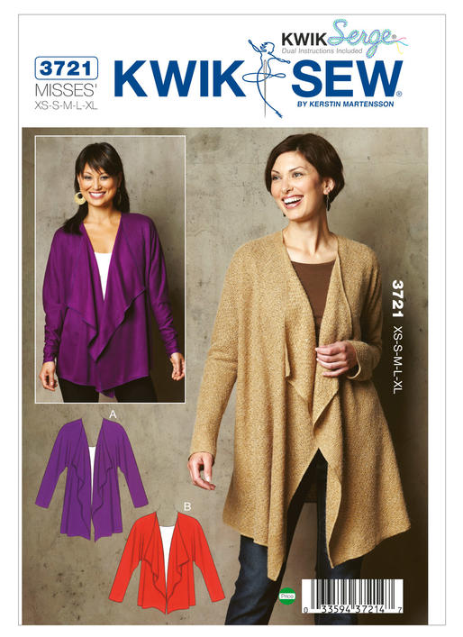 Kwik Sew Cardigan 3721 The Foldline