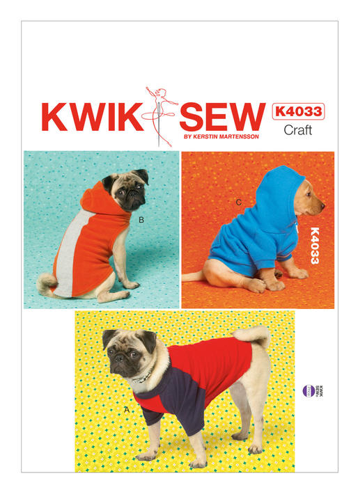 Kwik Sew Dog Hooded Coats and T-Shirt 4033 - The Foldline