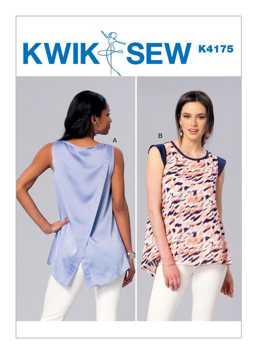 Kwik Sew Sleeveless or Cap Sleeve Tulip-Back Tops 4175 - The Foldline