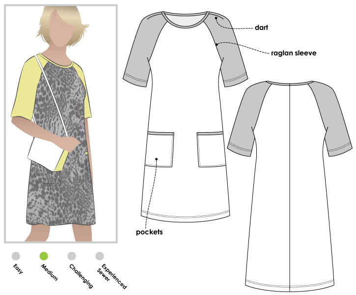 Mary Shift Dress The Foldline Mesmerizing Shift Dress Sewing Pattern