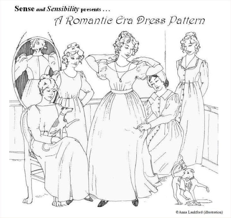 Romantic era dress - The Foldline