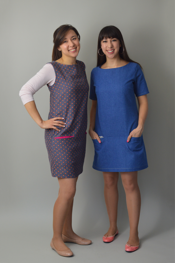 Buy the Carnaby dress sewing pattern from Nina Lee London from The Fold Line