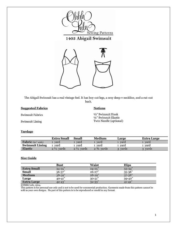 Abigail Swimsuit - The Foldline