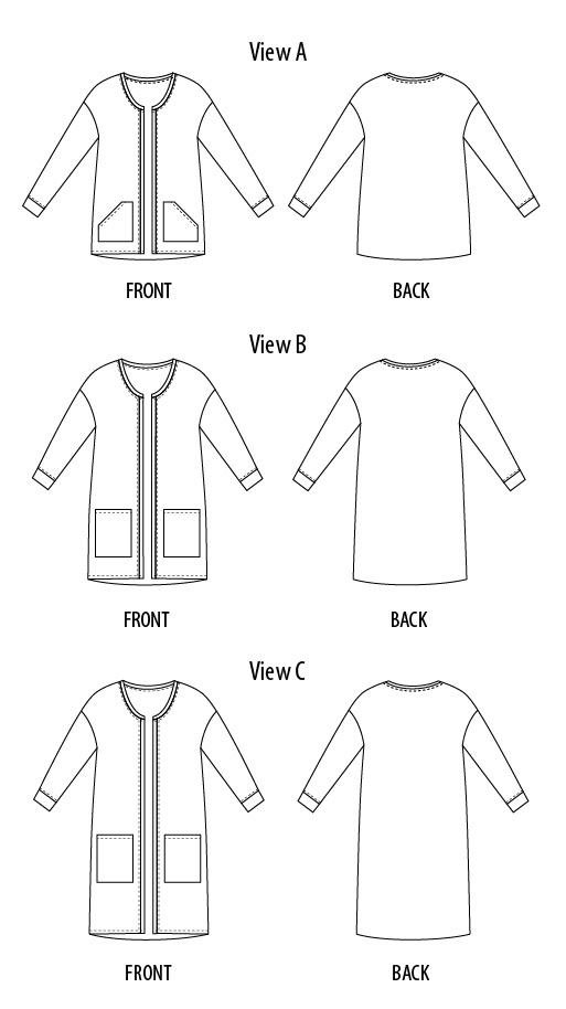 Opal Cardigan The Foldline New Cardigan Pattern