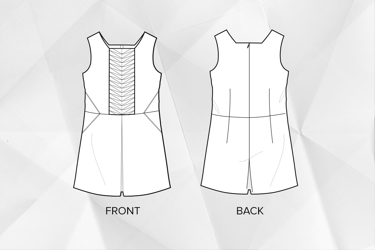 Petal Fold Playsuit - The Foldline