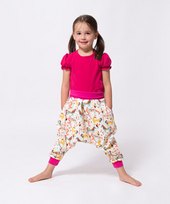 Poppy Harem Pants Girls & Adults - The Foldline