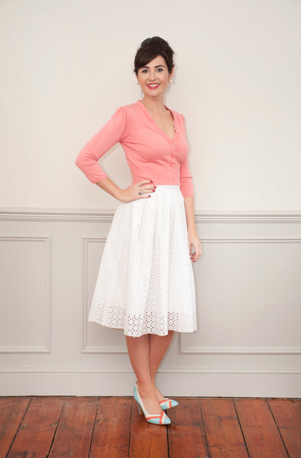 Buy the Lizzie skirt sewing pattern from Sew Over It from The Fold Line