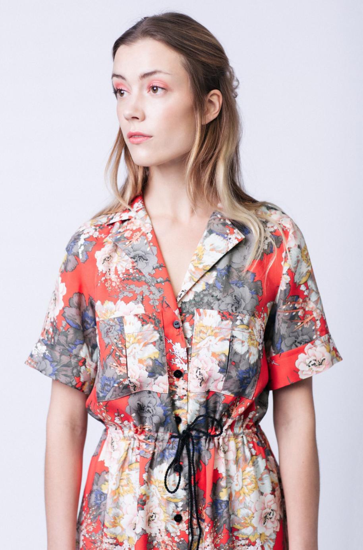 abdf7519f89 Reeta Midi Shirt Dress - The Foldline