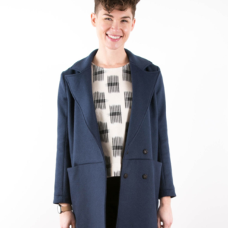 The Yates coat sewing pattern from Grianline Studios from The Fold Line