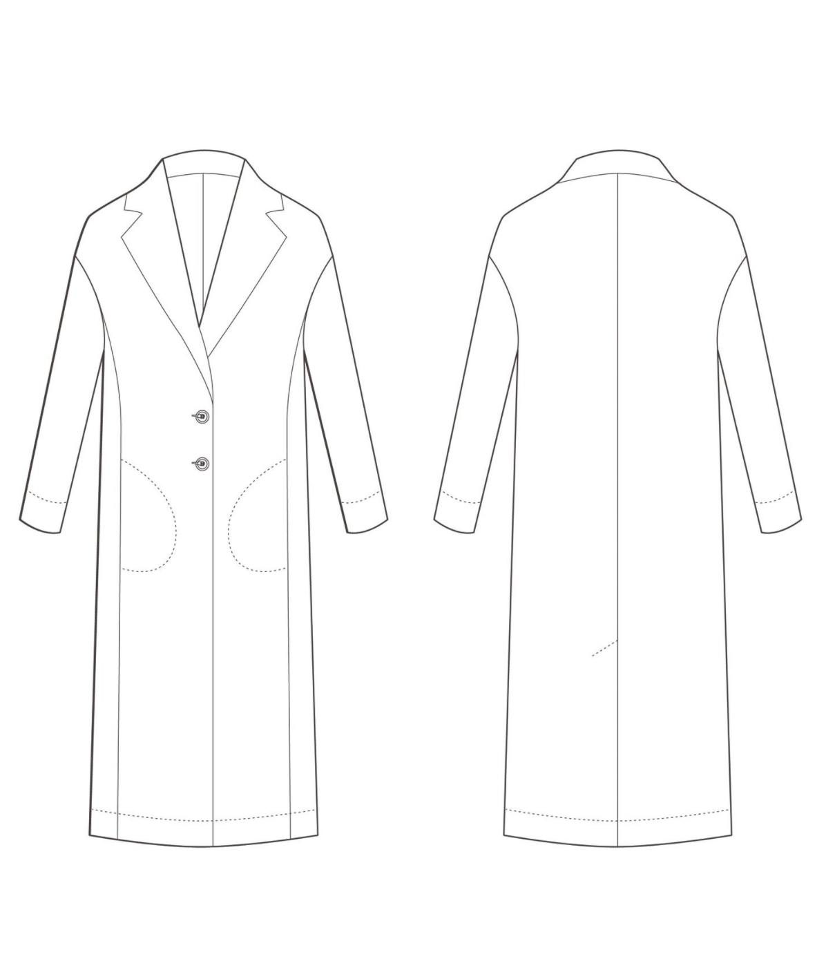 The Coat Sewing Pattern - The Avid Seamstress - Available from The ...