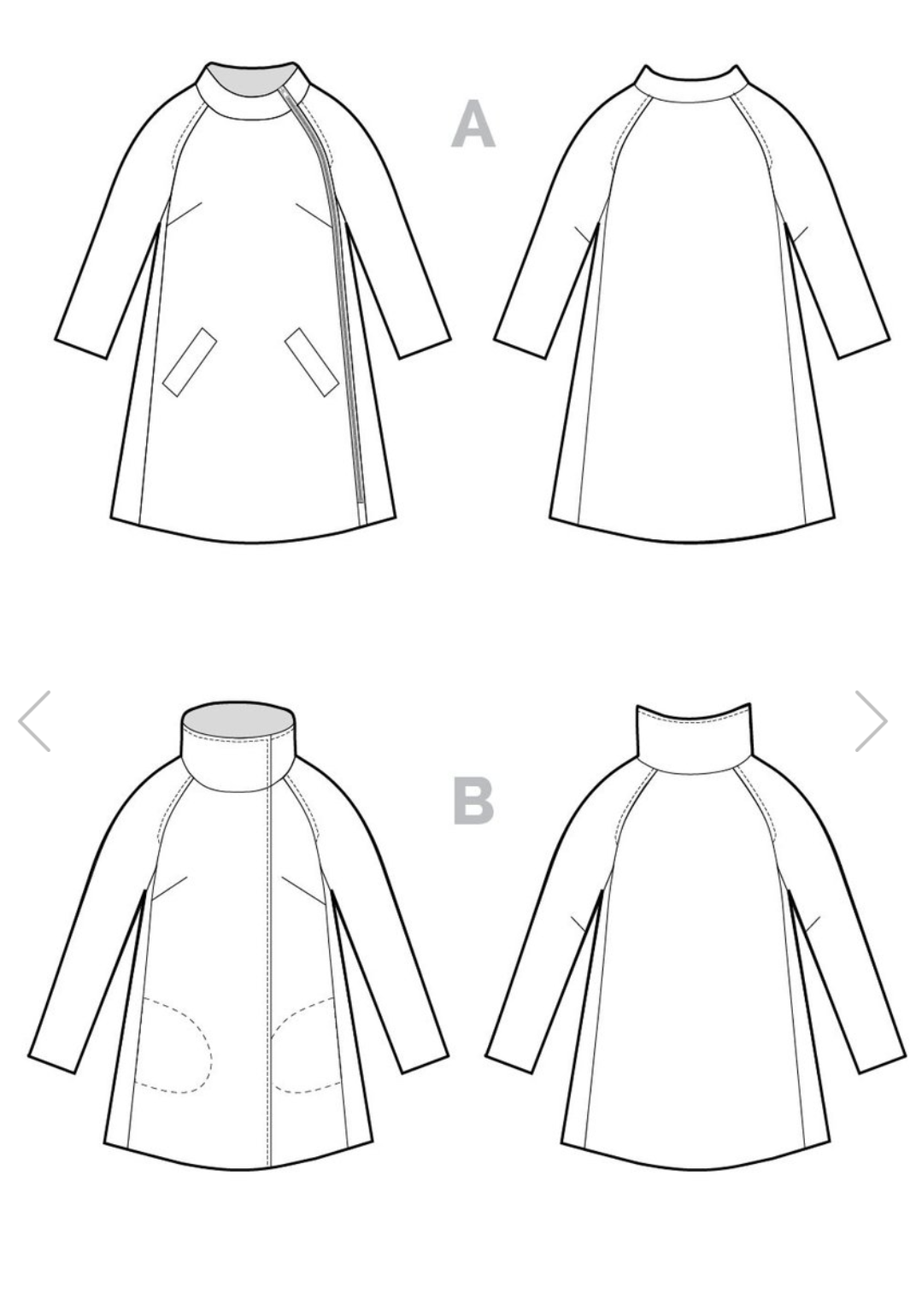 The Clare Coat Sewing Pattern - Closet Case Patterns - Available ...