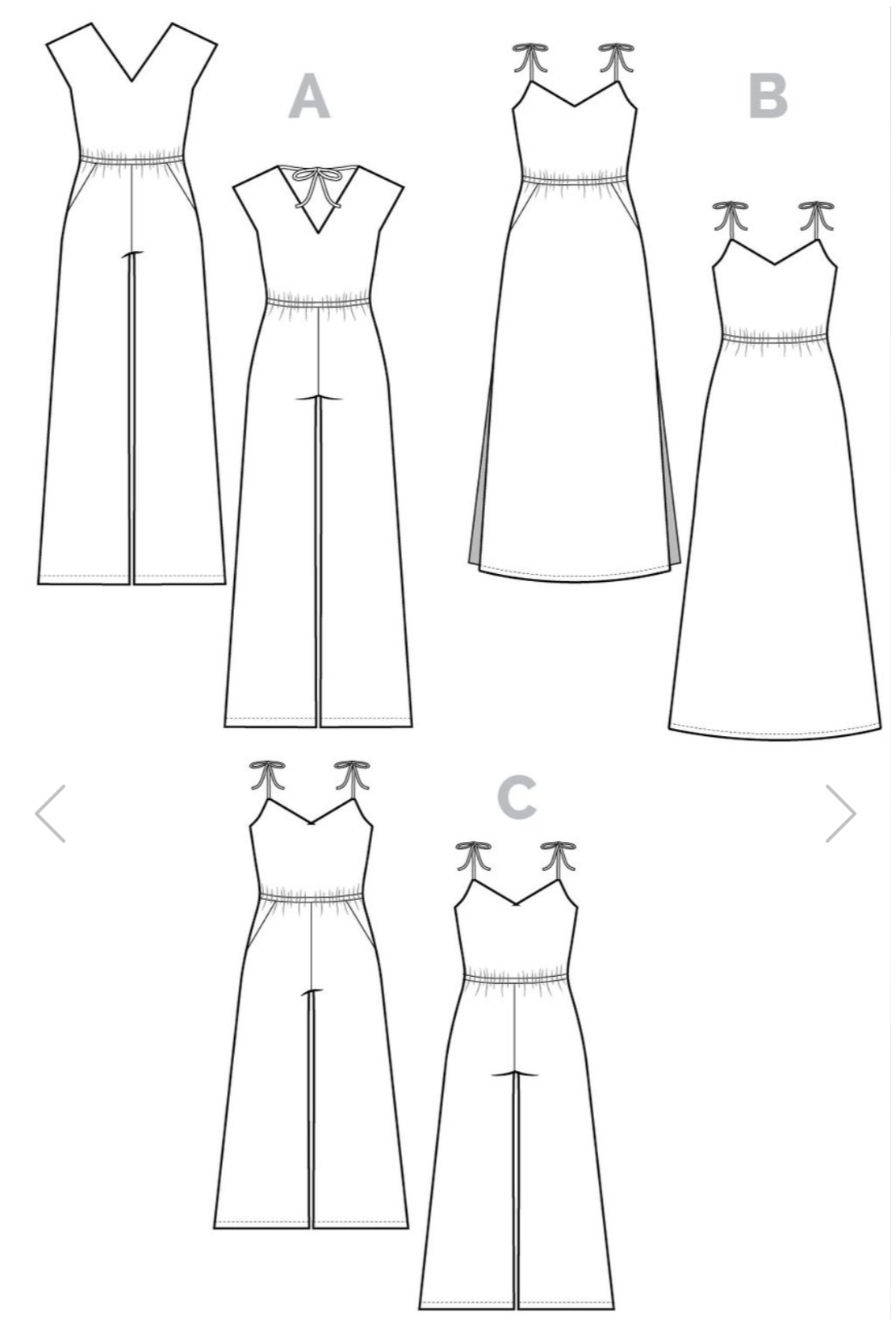 1ba030d9f9b Sallie jumpsuit size chart sewing pattern from Closet Case Patterns. This  product is unavailable for purchase