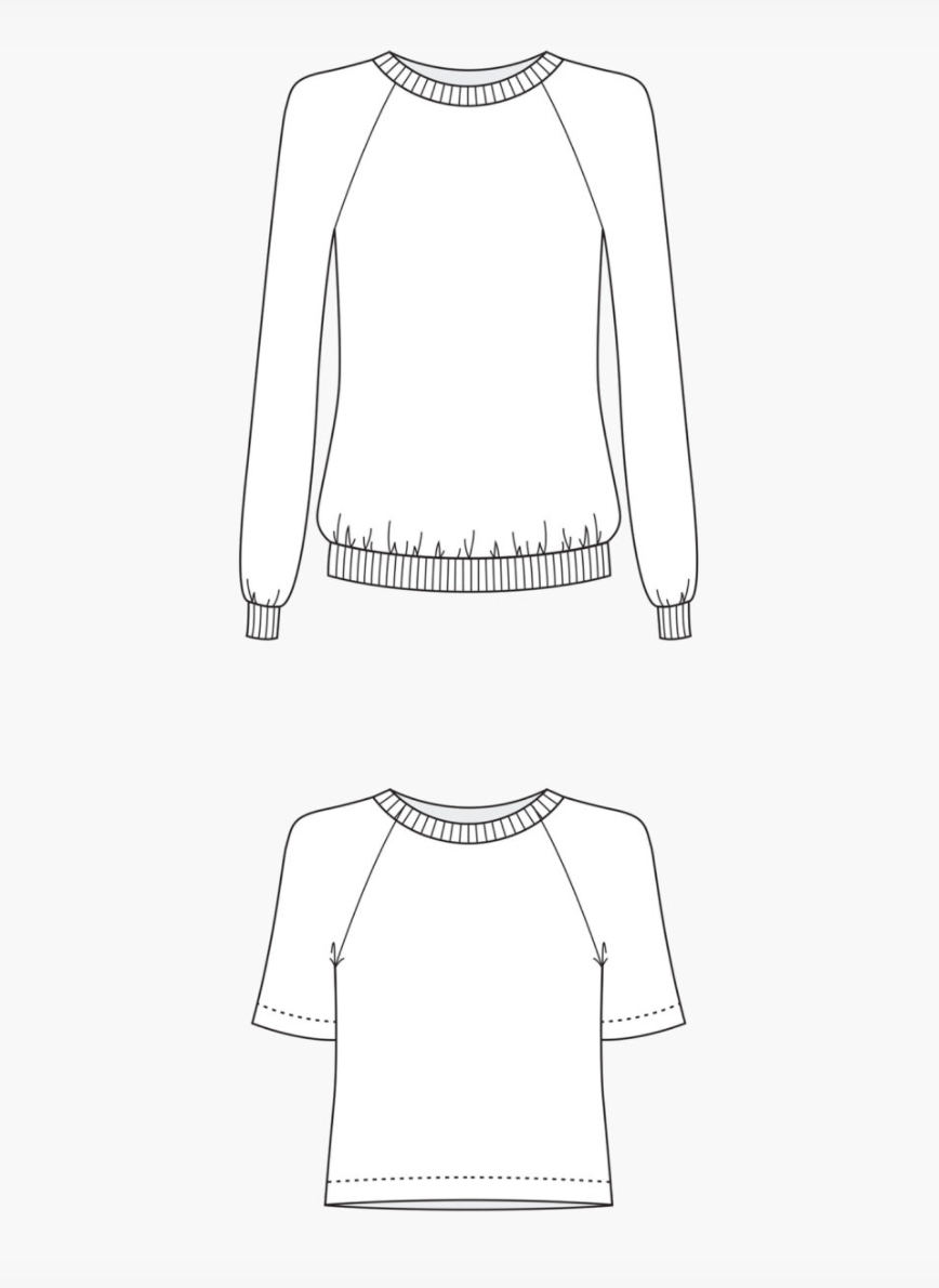 The Linden Sweatshirt Sewing Pattern - Grainline Studios - Available ...