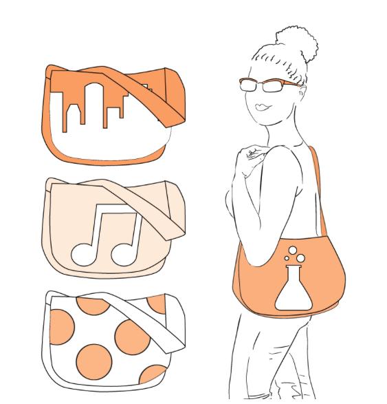 Achatina Graphic Messenger Bag - The Foldline