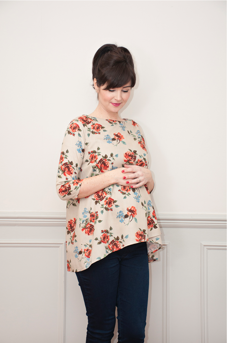00446639e02 Buy the Lily top maternity sewing pattern from Sew Over It from The Fold  Line