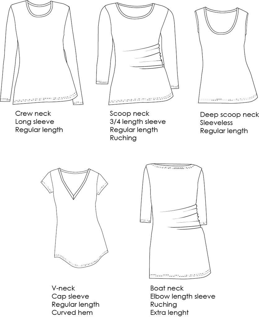 Wardrobe Builder T-shirt Curvy - The Foldline