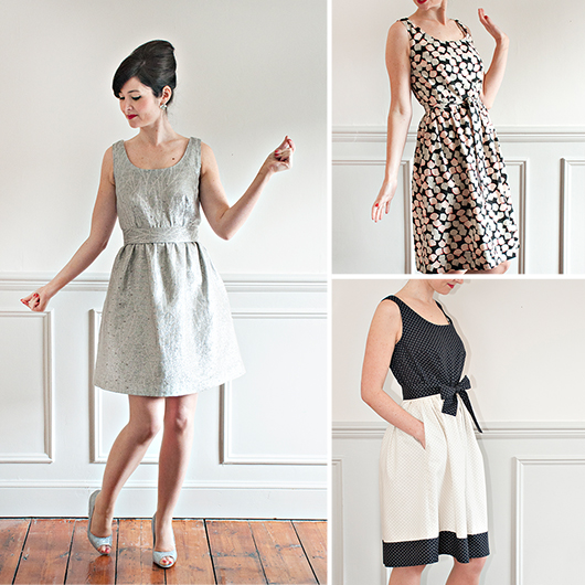 Grace dress pattern with online course - The Foldline