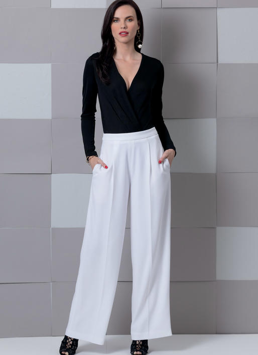 Vogue Sewing Pattern V9302 Women/'s Trousers With Front Pleats /& Zip