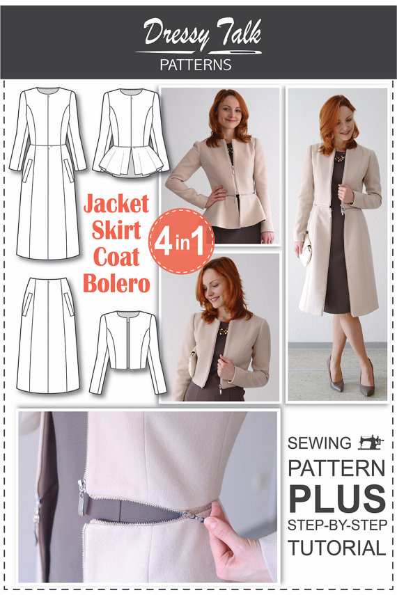Jacket Skirt Coat Bolero 4 in 1 - The Foldline