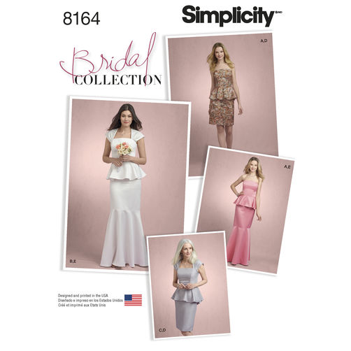simplicity misses two piece special occasion dress s 8164 the