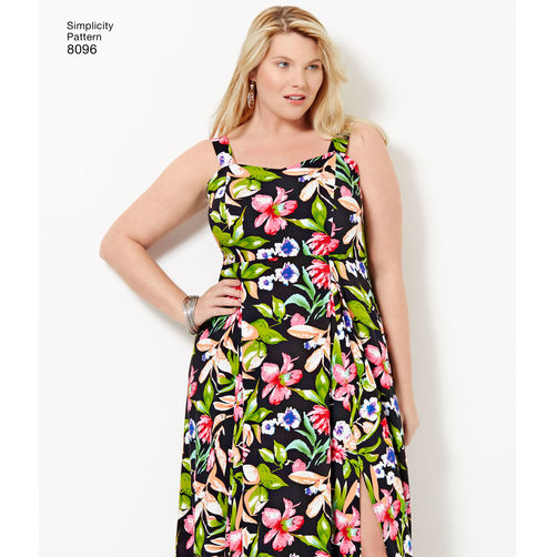 Simplicity Amazing Fit Plus Size Dresses 8096 The Foldline