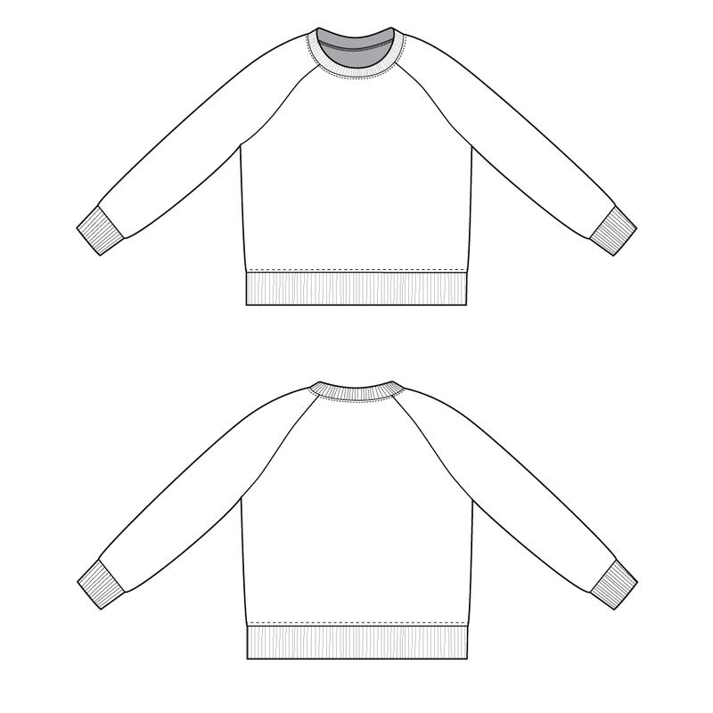 Raglan Sweatshirt The Foldline Custom Sweatshirt Pattern