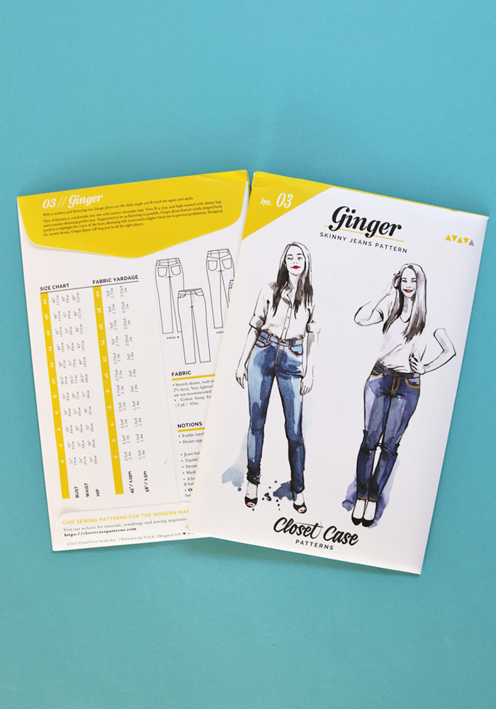 9c0d6575f4 The Ginger Jean Sewing Pattern - Closet Case Patterns - Available ...