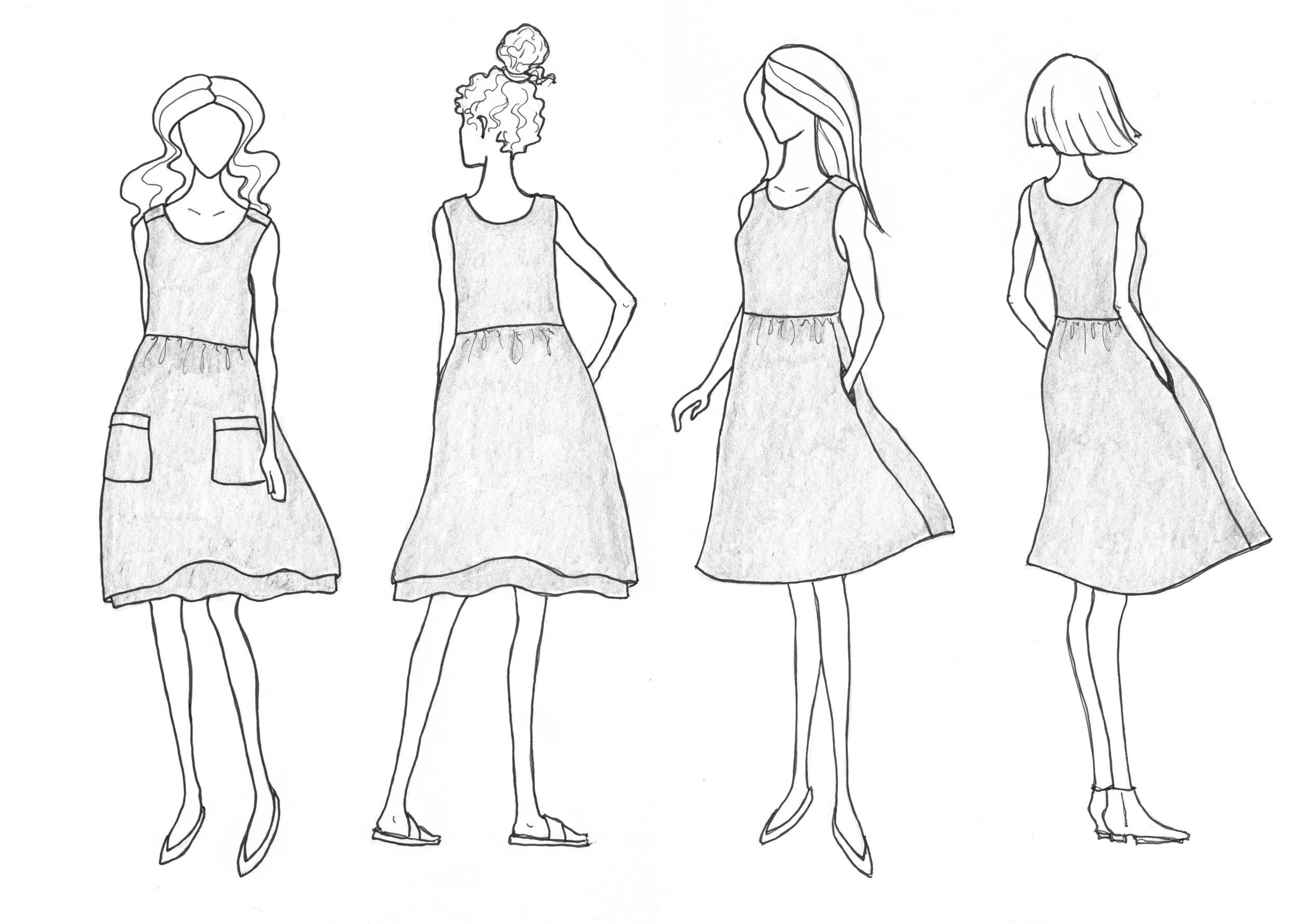 Metamorphic dress - The Foldline