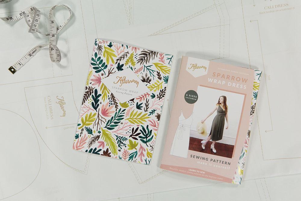 Sparrow Wrap Dress - The Foldline