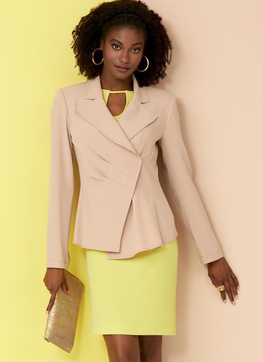 Vogue Sewing Pattern V9365 Misses/' Jacket Top Dress Skirt /& Trousers