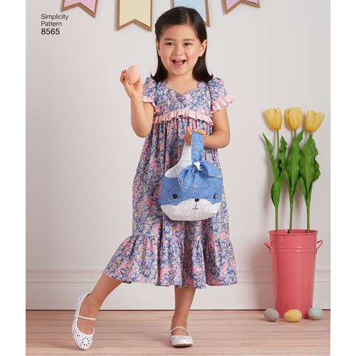 Simplicity Sewing Pattern 8565 Children/'s Dresses and Bags by Ruby Jean